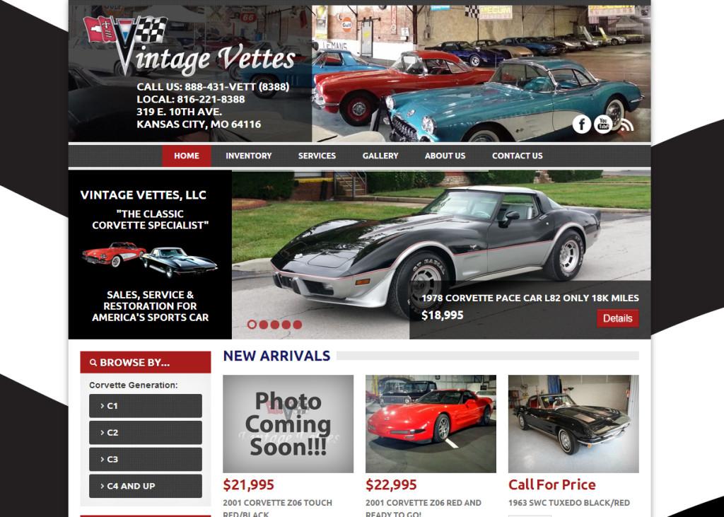 Vintage Vettes Website
