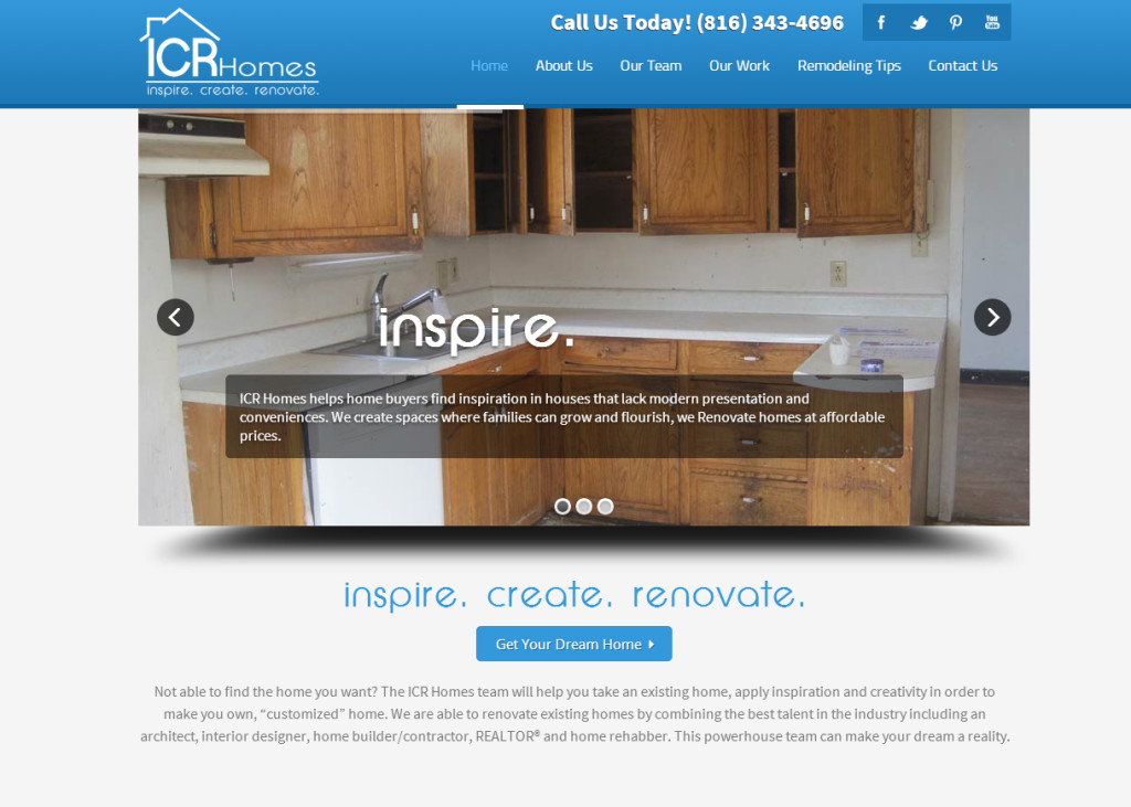 ICR Homes Website