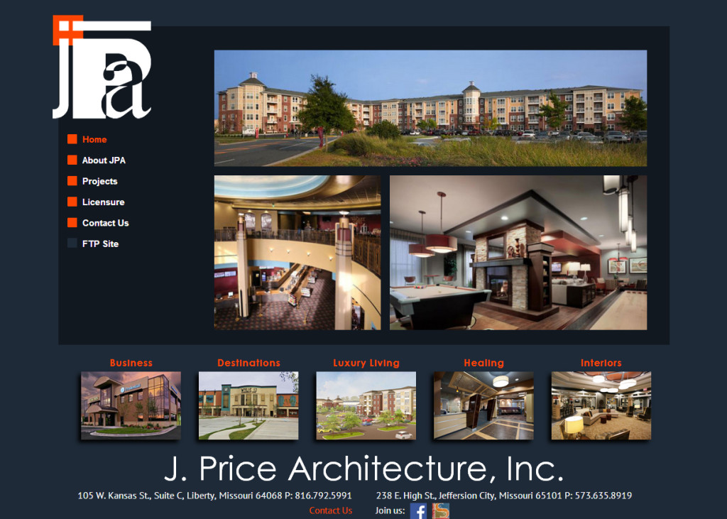 J. Price Architecture Website
