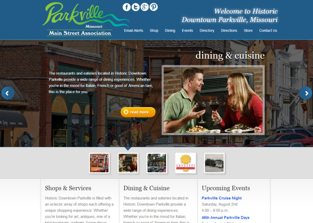 Main Street Parkville Association Website