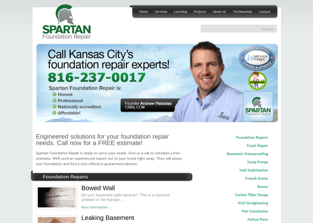 Spartan Foundation Repair Website